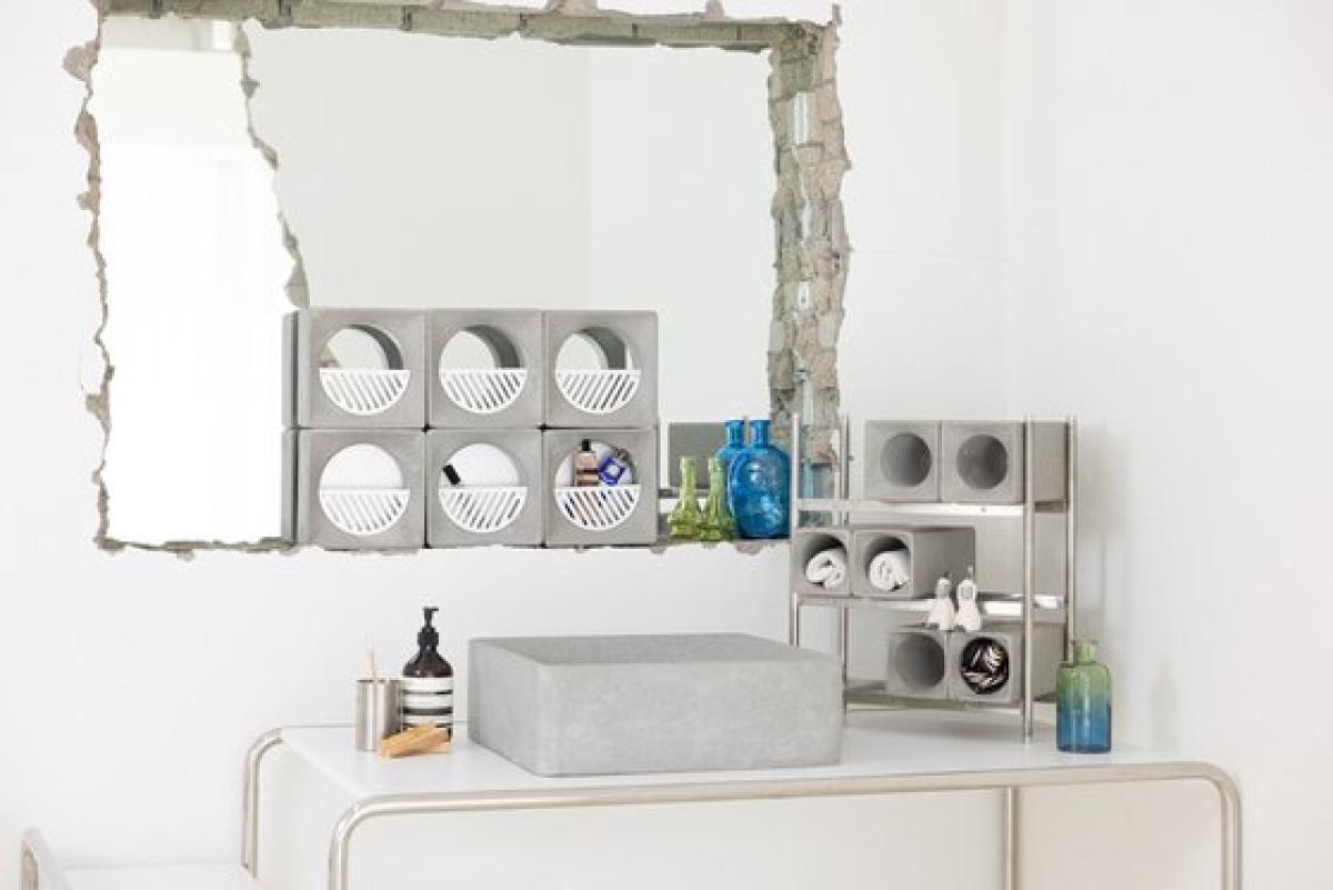 RKRN의 디자인과 미콘의 초고성능 콘크리트로 만든 욕실 제품. [사진 서울디자인재단]