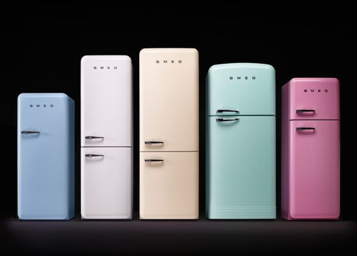 냉장고는 집에서 가장 크고 가장 열심히 일하는 가전제품이다. [사진 smeg]